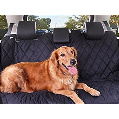 Lucky Pet's Pet Car Back Seat Cover Dog Hammock - Comfortable Pet & Protection from Stains, Spills, Claw Marks & Fur - Generous Size & Waterproof - Ideal for Cars, SUVs & Trucks - Easy Installation