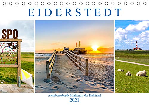 EIDERSTEDT-HIGHLIGHTS (Tischkalender 2021 DIN A5 quer)