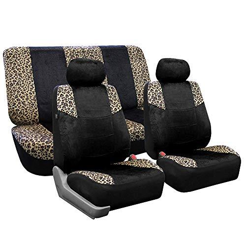 Impermeable Universales Fundas Para Asientos De Coche, Durable Clásico Paño Leopard Frente Fundas De Asiento De Coche Para Vehiculos, Ajuste Más Coche Camión Suv O Van-estampado De Leopardo
