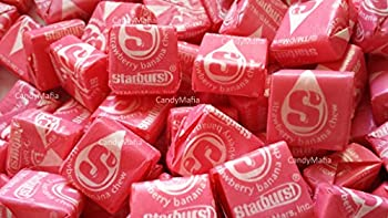 Starburst Tropical Flavors - Strawberry Banana Starburst 2 Pounds  Approx 175 pieces