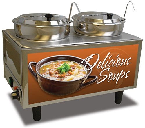"Benchmark USA 51072S Soup Station Warmer, 17"" H, 13"" W, 21"" L, Stainless Steel"