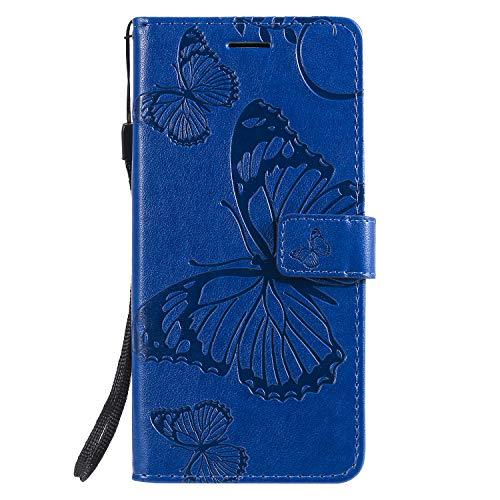 Coque pour Xiaomi Mi 9 Lite / CC9 Coque,Housse en Cuir Flip Case Portefeuille Etui avec Stand Support et Carte Slot pour Xiaomi Mi 9 Lite - EYKT042444 Bleu