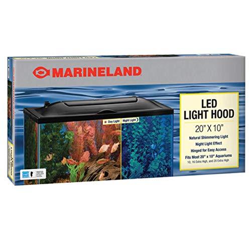 Marineland LED Light Hood for Aquariums, Day & Night Light, 20- by 10-Inch (16341)