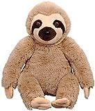 OCINAPALS 11' Plush Sitting Three Toed Sloth, Soft Fur and Beady Eyes