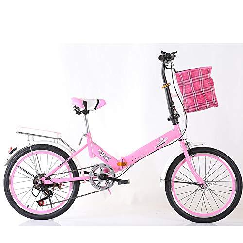 MUXIN Bicicleta Plegable De Aluminio De 20 Pulgadas, Cambio De Velocidades, Bici...