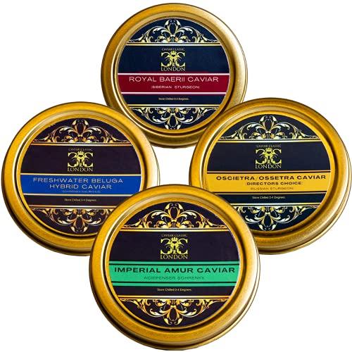 Imperial Quartet of Caviar (4x30g). 4 Stunning caviar's.Free 1-2 Day Std....