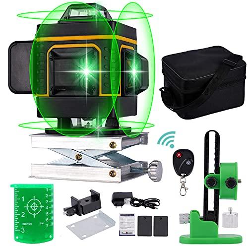 Livella Laser Autolivellante,Verde Professionale 16 Linea 4D 360 Orizzontale Linea Vertical Cross...