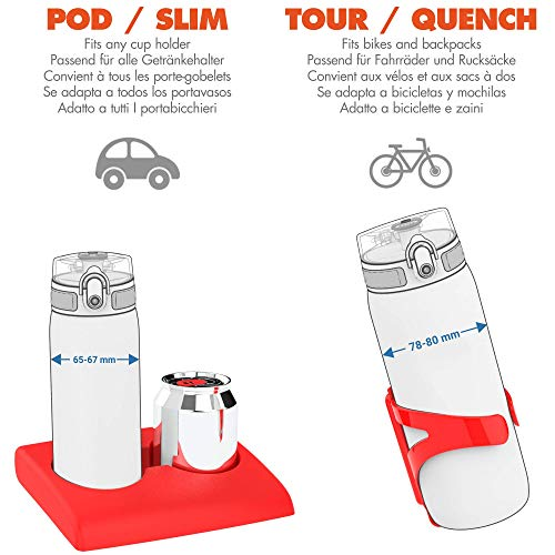 Ion8 Leak Proof Kids' Water Bottle, BPA Free, Space