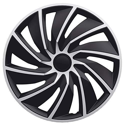 AutoStyle SILVER/BLACK Satz Radzierblenden Turbo 15-Zoll Silber/Schwarz