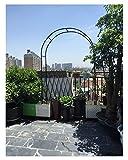 HLMBQ Ligero Arco de Flores para Boda,Arcos de Jardín Extensible,para Plantas trepadoras,Ornamental Negro 140x240cm,230x190cm,180x240cm,230x240cm