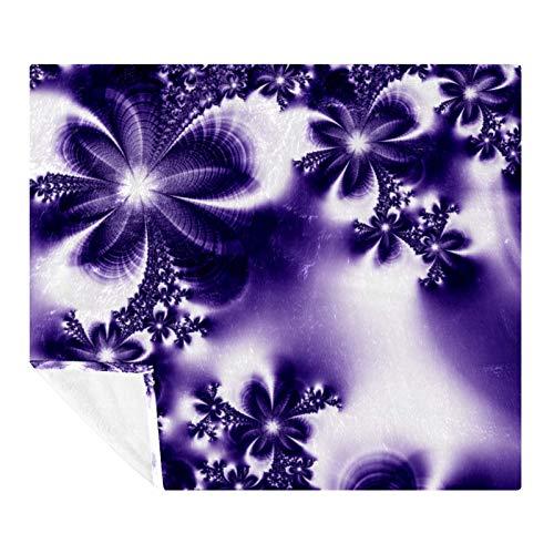 AMEILI Manta de felpa, súper suave y cálida, manta de felpa, ligera y acogedora, para sofá cama (manta de 50 x 60 pulgadas) guirnalda de flores