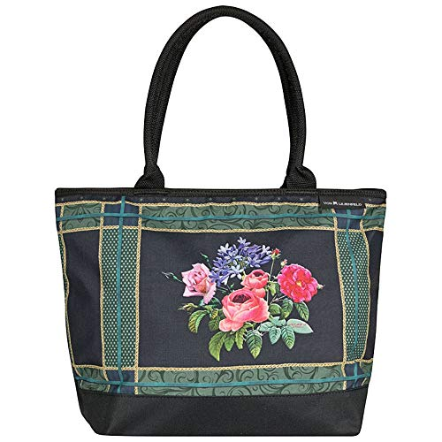 VON LILIENFELD® Bolsa Compra Shopper Grande de Playa Bandolera Mujer Arte Eva Maria Nitsche: Bonny Bouquet