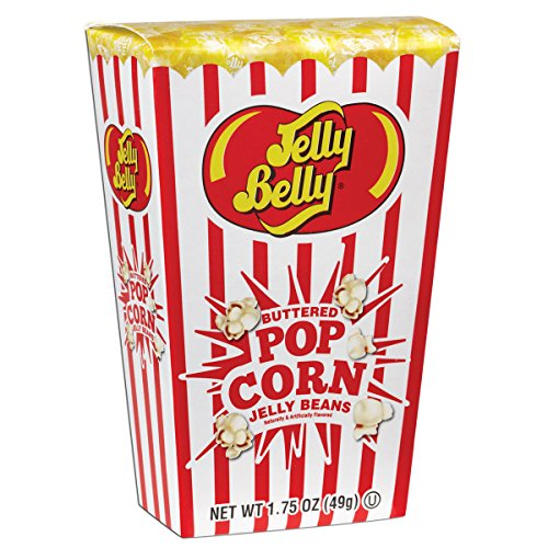 Jelly Belly Buttered Popcorn Jelly Beans Box - 1.75 oz - Official, Genuine, Straight from the Source