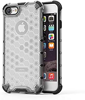 Fashion Phone case for iPhone 7/iPhone 8,Fashion Shockproof Honeycomb Design PC + TPU Protective Case (Color : Clear)