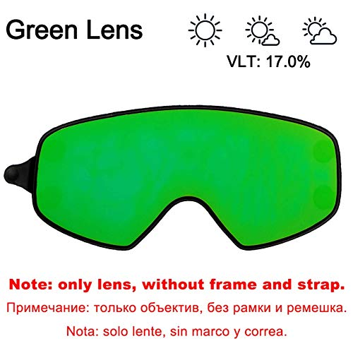 Learn More About XIONGHAIZI LOCLE Ski Lens Magnetic Dual-use Outer Lens for Snowboard Goggles Night Skiing Anti-Fog UV400 Men Women Ski Glasses (Color : Green Outer Lens)