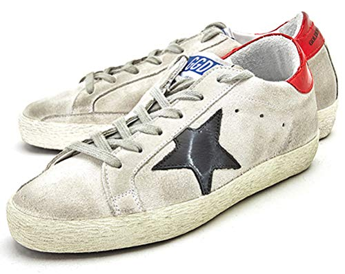 Zapatillas de deporte con cordones para mujer de cuero de moda zapatillas de deporte, color Rojo, talla 33 EU