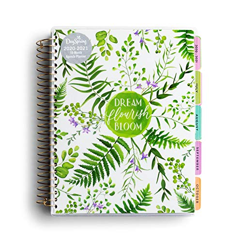DaySpring Botanical Dream - 2020-2021 Planner - Academic Weekly & Monthly Agenda Planner with Tabs, Interior Pocket and Note Pages