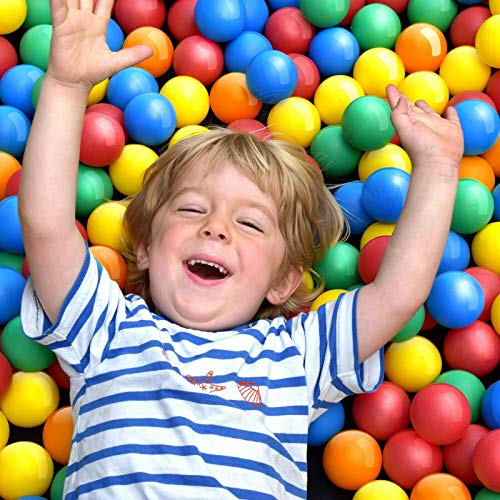 Balles Colorées en Plastique - Ø 5.5 cm, sans Plastifiants, Set de 100/200/300/500/1000/2000 - Boules de Jeu, Piscine, pour Enfants