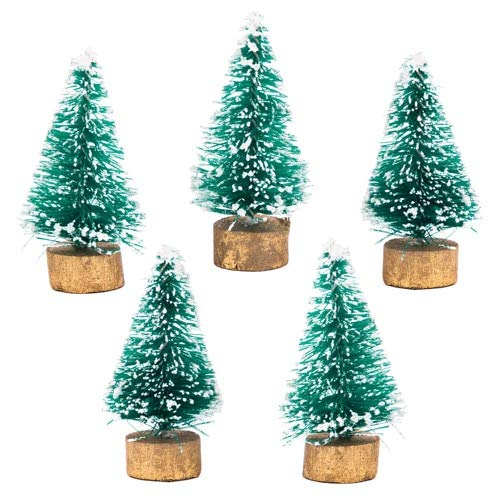 Baker Ross AV881 Mini Christmas Trees Value Pack — Kids' Crafts and Art Projects for Displays, Models and Decorations (Pack of 8), Assorted