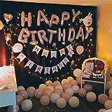IPOW 誕生日 飾り付け 風船 ガーランド LEDストリングライト付き 誕生日パーティーグッズ 壁デコセットバースデー 飾りHAPPYBIRTHDAY バルーン
