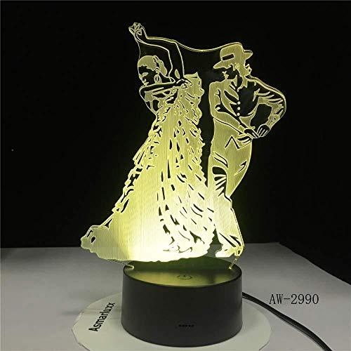 Flamingo Dance Rok Tafellamp 3D Led Slaapkamer Decor Nachtlampjes USB Baby Slaap Visuele Meisjes Licht Fixtures Kids Geschenken