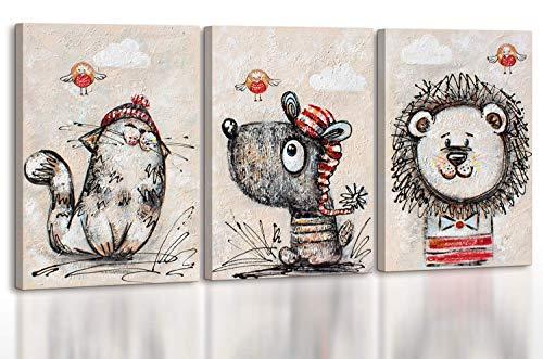 - Art Premium | Cuadros acrílicos pequeños milagros | Lienzo pintado a mano | Cuadro de pintura acrílica | Lienzo | Unikat | Gris | KS 002