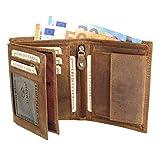 ALMADIH  Portemonnaie Hochformat Rindsleder - 10 Kartenfächer mit Geschenkbox (P2H...