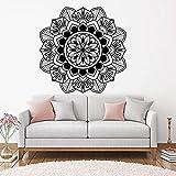 Mandala calcomanía de pared pegatina arte indio adorno decoración para artículos para el hogar sala de Yoga decoración de dormitorio pegatina A5 57x57cm