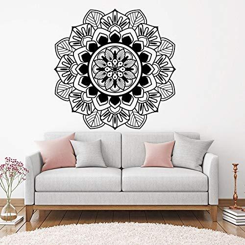 Mandala, calcomanía de pared, arte, decoración india, decoración para el hogar, sala de Yoga, dormitorio, decoración, pegatina A4 42x42cm