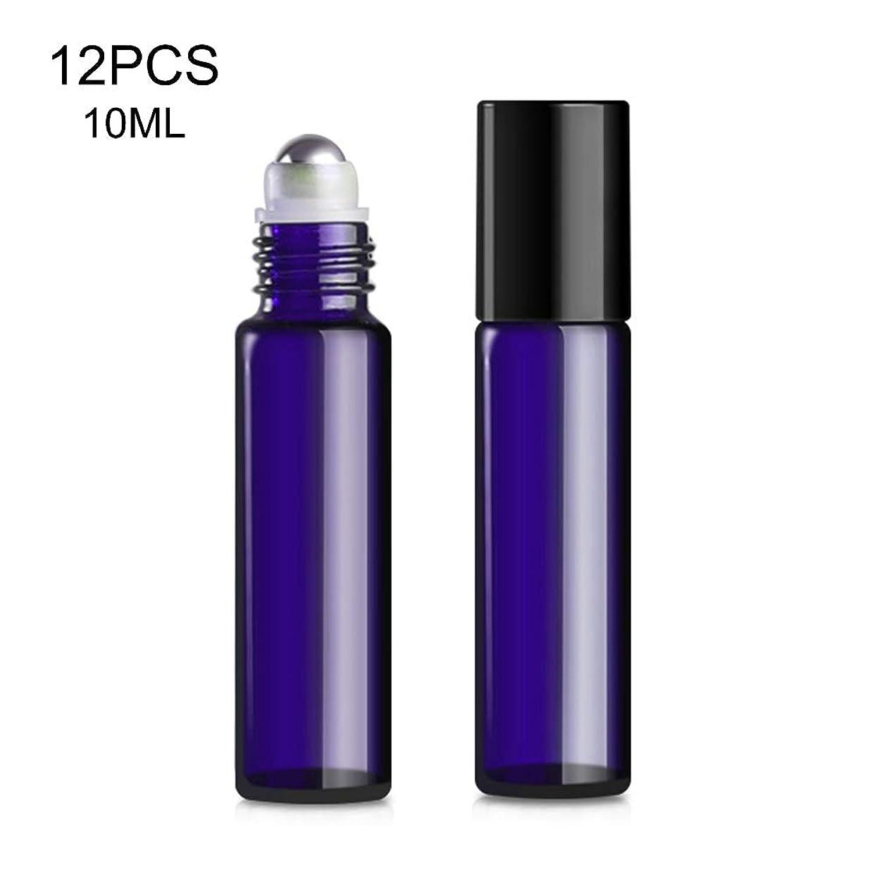 白いごめんなさい賠償DOMO 12PCS 10ML エッセンシャルオイルボトル 空のボトル ガラス瓶 香水瓶 ガラス瓶詰め ビーズボトル