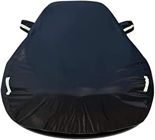 DUWEN Compatible with Nissan March Nismo S Full Car Cover Waterproof Breathable Car Cover Car Tarpaulin Sunscreen Insulation Scratch Resistant UV All Weather Outdoor Dust Cover (Color : Black)