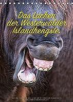 Das Lachen der Westerwaelder Islandhengste. (Tischkalender 2022 DIN A5 hoch): Wenn die Islandhengst Grimassen ziehen, dann sieht das oft so aus als ob sie lachen wuerden. (Monatskalender, 14 Seiten )