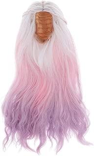 Tachiuwa 1/4 BJD Doll Full Wig Anime Girl Cosplay 7-8inch 20-22cm for Night Lolita SD DZ DOD LUTS, Gradient Pink Fantasy Curly Hair