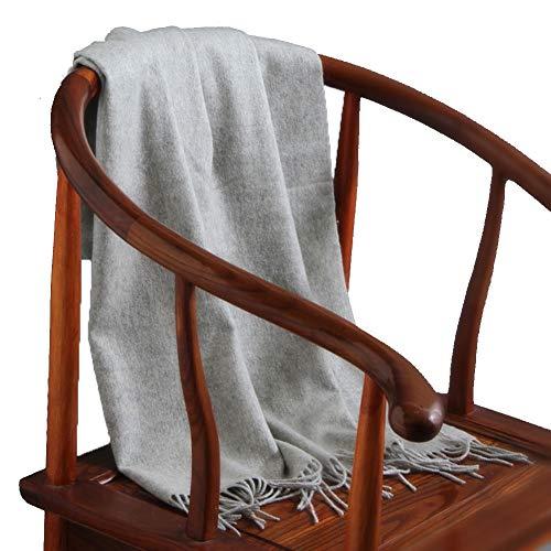 TIANPIN Paar Unisex Sjaal Super Zachte Grote Sjalen Wraps Winter Warm Dikke effen kleur kasjmier sjaal sjaal (70X200CM)