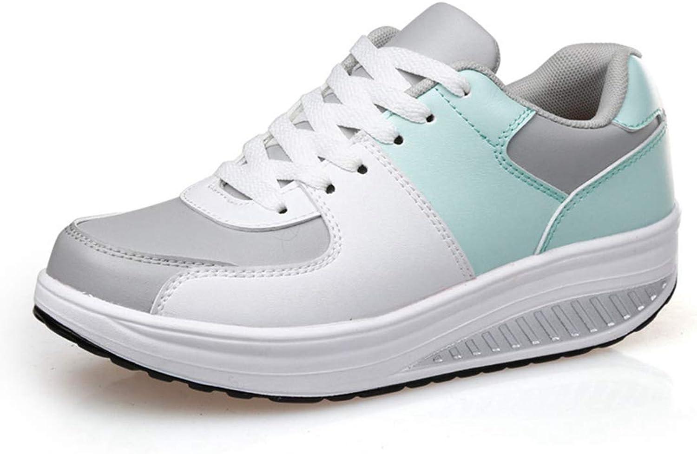 Btrada Women Waterproof Wedges Sneakers Casual Sports Tennis Platform Outdoor Lace up Swing shoes