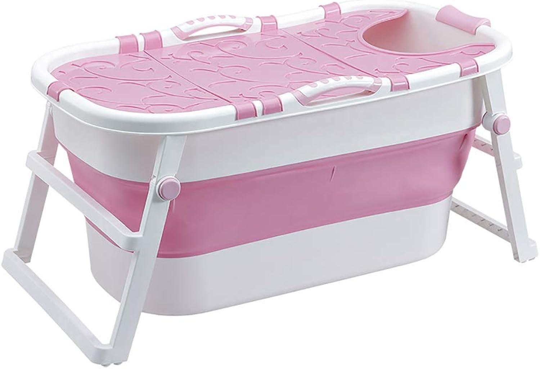 Folding bathtub Tragbare Faltbare Badewanne FüR Erwachsene Kinder GroEs Faltbares Schwimmbecken Freistehende Eckbadewanne Eimer Fass Spa ErhHen - L107  B59  H53cm