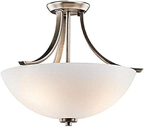discount Kichler sale 42563BPT Granby Semi-Flush outlet online sale 3-Light, Brushed Pewter online