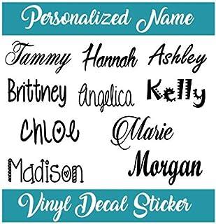 Custom Name Vinyl Decal Sticker I Yeti Rambler Decal Tumbler Cup Name Decal