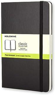 Moleskine Classic Hard Cover Notebook - Plain - Pocket - Black, (QP012)