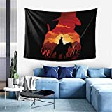 PatriciaHMarin Red Dead Redemption 2 Tapestry Wall Hanging Art Home Decoration for Ceiling Living Room Dorm Bedroom Kitchen 60x41 Inches