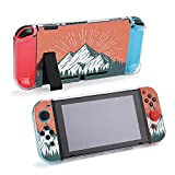 SUPNON Switch Case Compatible with Nintendo Switch Games Protective Hard Carrying Cover Case for Nintendo Switch Console Joy Con Controlle - Pine Forest in Front of an ICY White Peak Design23708