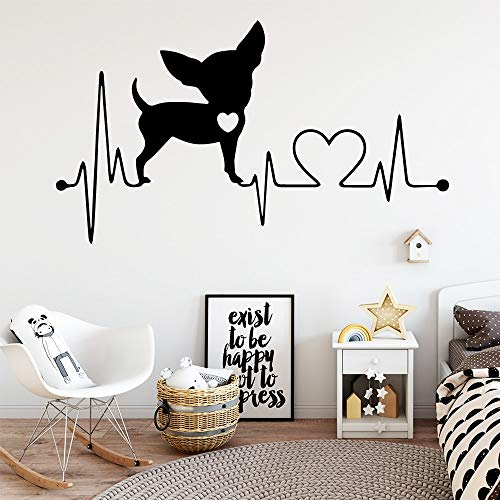 Yaonuli hartslag hond vinyl stickers in cartoon-stijl voor de kinderkamer decoratie muursticker behang