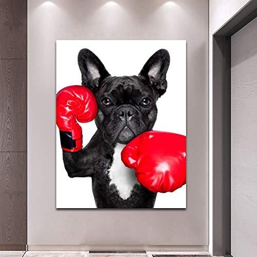KWzEQ Pittura da Portare della Decorazione della Parete dell'animale del Manifesto dei Guanti del Pugilato per la Pittura Domestica della Decorazione,Pittura Senza Cornice,75x112cm