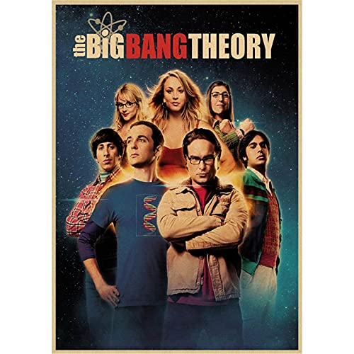 AOXULIU Kunstdrucke 30x45cm Ungerahmt The Big Bang Theory Film Leinwanddrucke Poster Bar Wand Kunstdruck Badezimmer