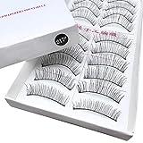 Borstu Falsche Wimpern 10 Paare 3D Pure Langlebige Flauschige Künstliche Wimpern aus Importierte Faser für Partys, Kunst, Bühnen