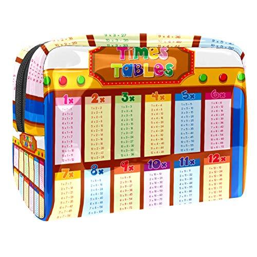 Bolsa de cosméticos con diseño de animales de vaca, 18,5 x 7,6 x 13 cm, para mujeres y niñas, bolsa de maquillaje, bolsa de viaje