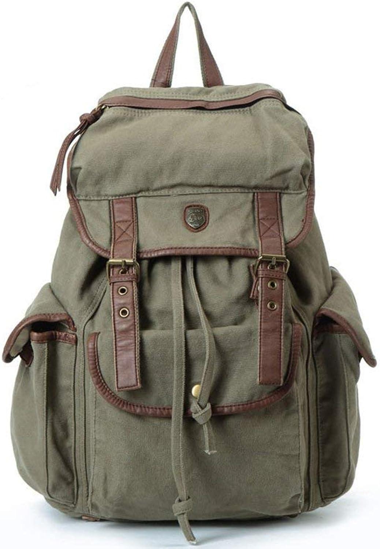 MUTANG Leinwand Rucksack Student Bag Outdoor Groe kapazitt Reisetasche Mnner Und Frauen Rucksack Computer Tasche