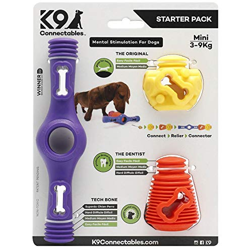 K9Connectables Mini Starter Pack Purple, Orange & Yellow, 1000 g