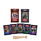 Lot de 7 Extensions Hero Realms VF Liche + Dragon + Archer + Sorcier + Guerrier + Voleur + Clerc + 1 Règle Marque-Page en Bois Blumie
