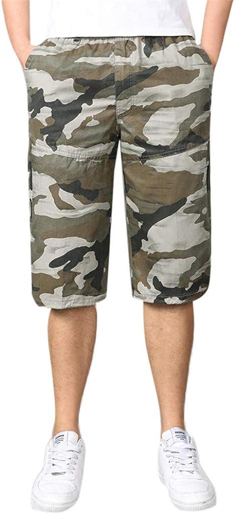 Stylish Multi-Zip Shorts Men's Seven-Point Multi-Pocket Built-in Corded Cargo Shorts